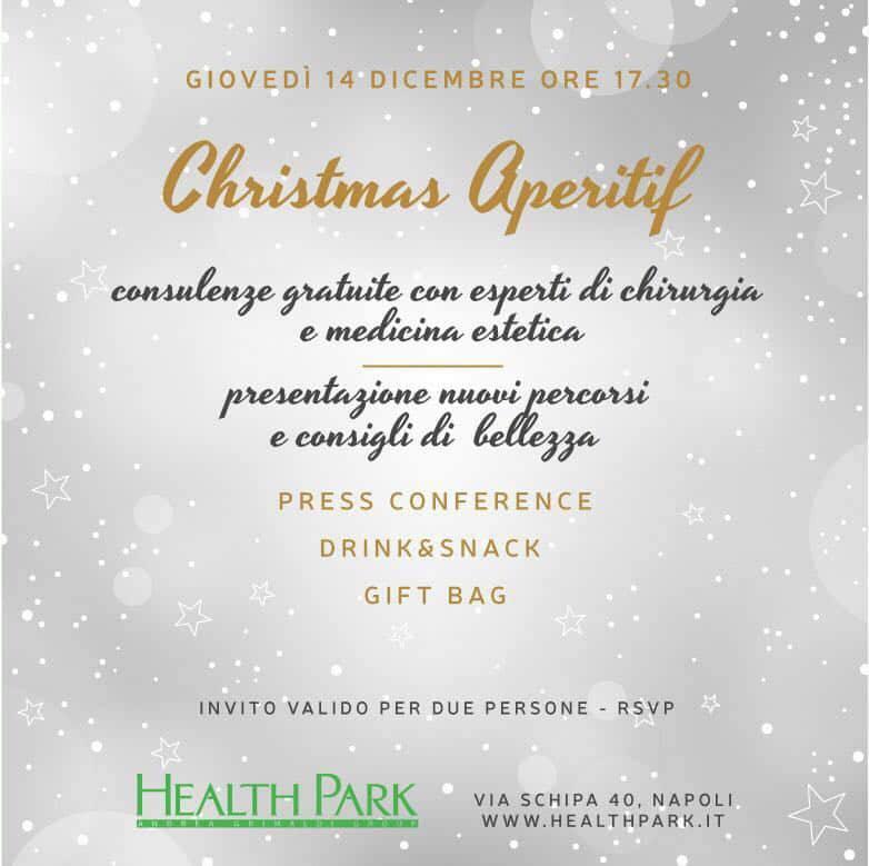 """Giovedì 14 Dicembre """"Christmas Aperitif"""" Presso """"Health Park"""", Centro Di Medicina E Chirurgia Estetica D'eccellenza"""