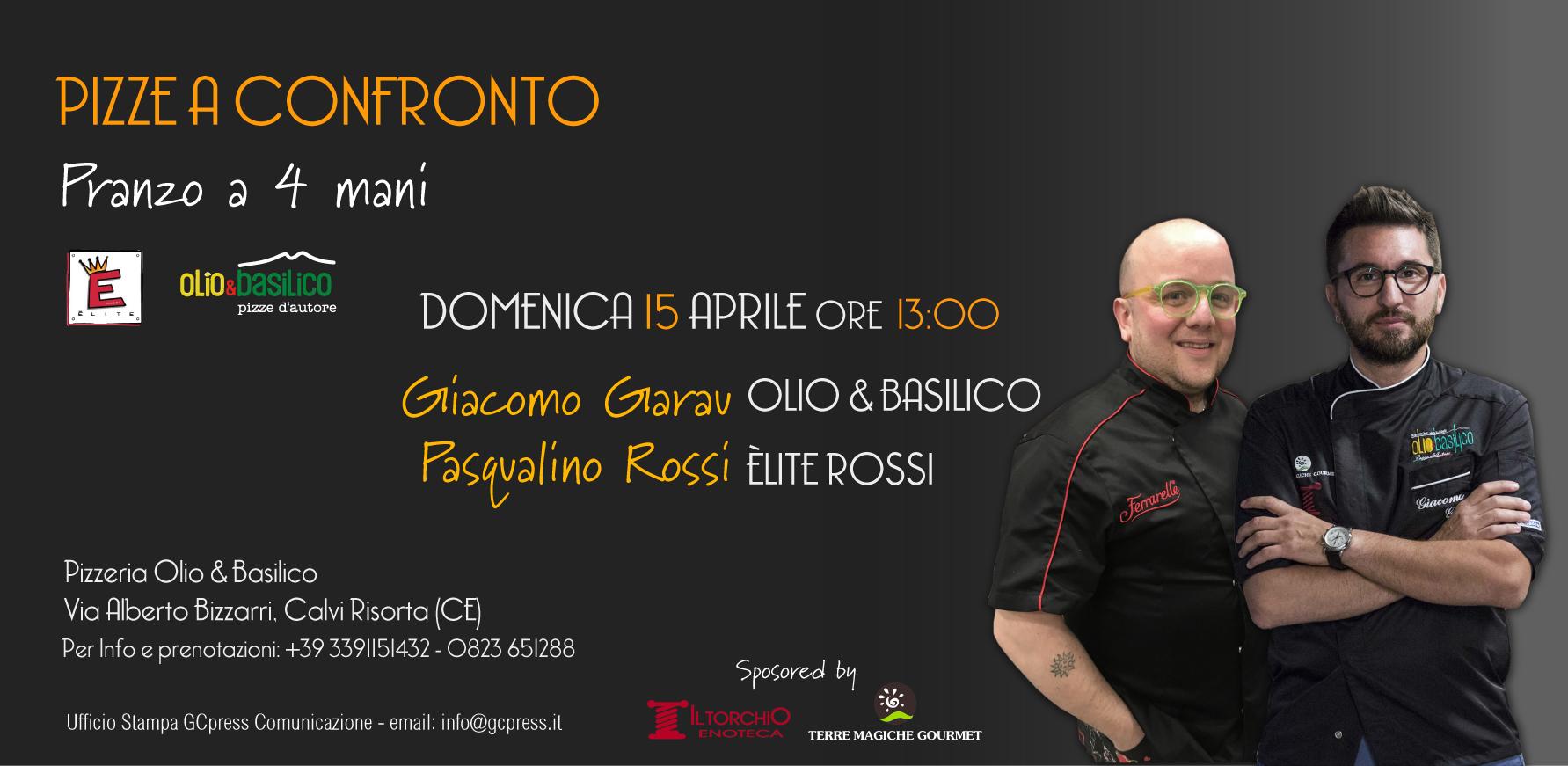 PIZZE A CONFRONTO è L'incontro Tra Due Grandi Maestri Della Pizza In Provincia Di Caserta